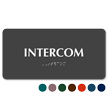 Intercom TactileTouch Braille Sign