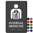Internal Medicine Braille Sign with Internal Organs Symbol