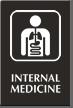 Internal Medicine Engraved Hospital Sign