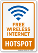 Free Wireless Internet Hotspot Sign