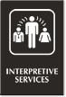 Interpretive Services Engraved Sign with Medical Linguist Symbol