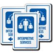 Interpretive Services Hospital Sign with Medical Linguist Symbol