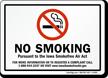 Iowa Smokefree Air Act Sign
