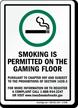 Smoking Permitted Visit Www.Iowasmokefreeair.Gov Sign