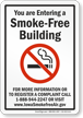 Iowa Entering A Smoke Free Building No Smoking Sign