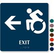 Exit Sign with Left Arrow, New Accessible Pictogram