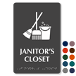 Janitor's Closet TactileTouch Braille Sign With Graphic