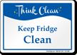 Keep Fridge Clean Sign
