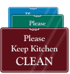 Keep Kitchen Clean Showcase Wall Sign