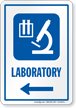 Laboratory Sign With Left Arrow Symbol