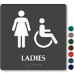 Tactile Touch Braille Door Sign For Ladies