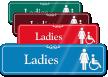 Ladies Female And Handicap Pictogram ShowCase Wall Sign
