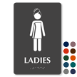 Ladies Towel Woman Braille Restroom Sign
