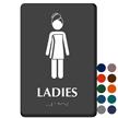 Ladies Towel Woman Braille Restroom Sign