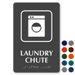Laundry Chute Symbol TactileTouch™ Sign with Braille