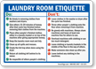 Laundry Room Etiquette Sign