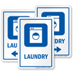 Laundry Sign with Washing Machine Symbol