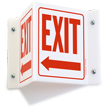 Projecting Exit Sign, 6in. x 5in.