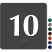 Tactile Touch Braille Door Sign With Number 10