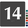 Tactile Touch Braille Door Sign With Number 14