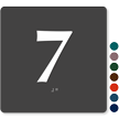 Tactile Touch Braille Door Sign With Number 7
