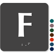 Tactile Touch Braille Door Sign With Letter F