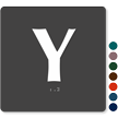 Tactile Touch Braille Door Sign With Letter Y