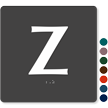 Tactile Touch Braille Door Sign With Letter Z