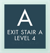 Stairway w/Level Indicator Sign