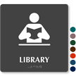 Library TactileTouch ADA with Braille Sign