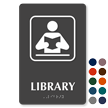 Library Symbol ADA TactileTouch™ Sign with Braille
