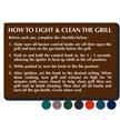 TactileTouch™ Grill Etiquette Sign