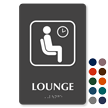 Lounge Symbol TactileTouch™ Sign with Braille
