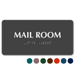 Mail Room Tactile Touch Braille Sign