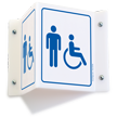 Male & Accessible Pictograms Restroom Projecting Sign