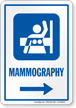 Mammography Right Arrow Hospital Sign