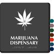 Marijuana Dispensary TactileTouch Braille Hospital Sign