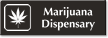 Marijuana Dispensary Engraved Hospital Sign