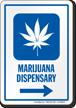 Marijuana Dispensary Right Arrow Hospital Sign