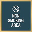 Marquis No Smoking Sign, 6in. x 6in.