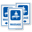 Massage Sign with Masseur Symbol