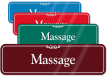 Massage ShowCase Wall Sign