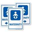 Maternity Hospital Sign with Baby Symbol
