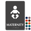 Maternity TactileTouch Braille Hospital Sign