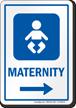 Maternity Right Arrow Hospital Sign