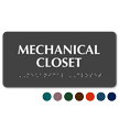 Tactile Touch Braille Mechanical Closet Sign