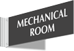 Mechanical Room Above Door Corridor Sign