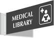 Medical Library Corridor Projecting Sign