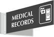 Medical Records Corridor Projecting Sign