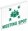 Meeting Spot Z-Projecting Sign